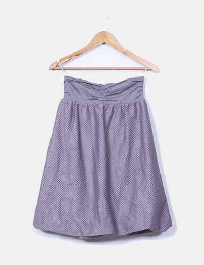 Vestido gris combinado palabra de honor H&M