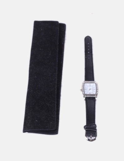 Reloj negro con strass NoName