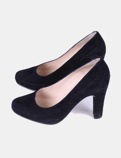 Chaussures noir en daim Unisa
