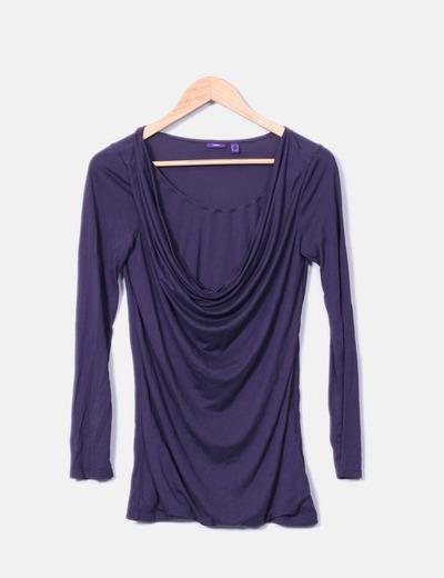 Blouse violette drapée Mexx