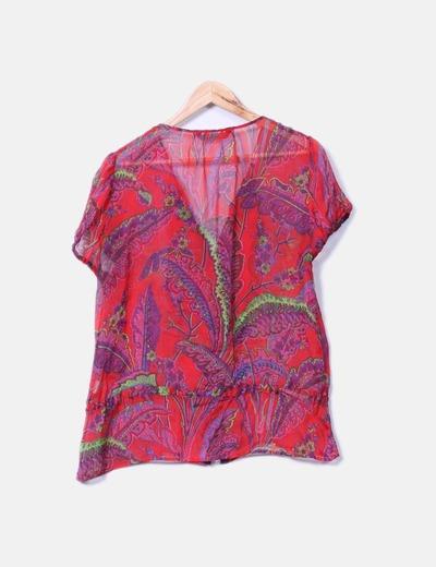 Camisa multicolor volante