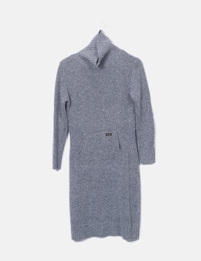 Vestido punto gris Pepe Jeans