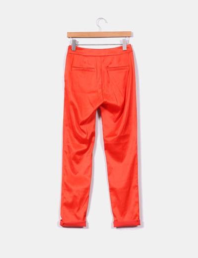 Pantalon satinado naranja butano