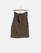 Falda midi kaki H&M