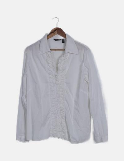 Camisa blanca chorreras manga larga