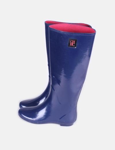 Boots of marine blue water Carolina Herrera