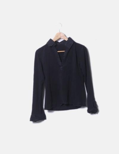 T-shirt noir Massimo Dutti