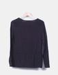 Suéter tricot negro combinado rejill TMX