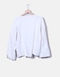 White hem tail sweatshirt Mango