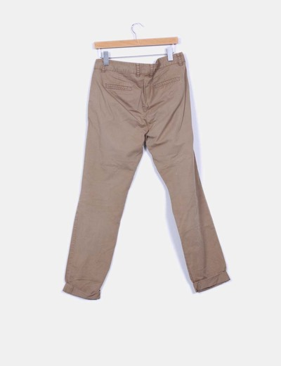 Pantalon de pinzas marron