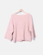 Jersey tricot rosa Zara