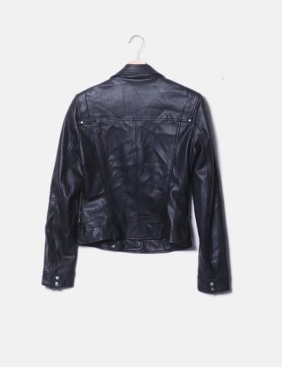 minorista online 0819b 1221c Chaqueta biker negra