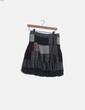 Falda midi patchwork gris Desigual