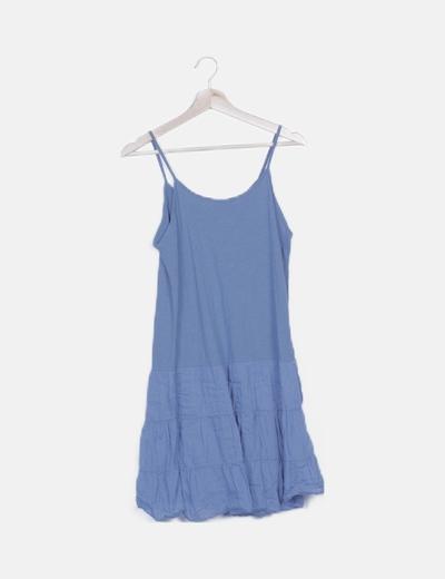 Vestido azul combinado