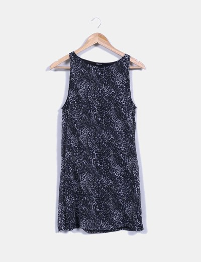 Vestido animal print gris Suiteblanco
