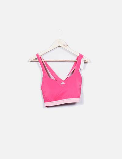 Top deportivo rosa