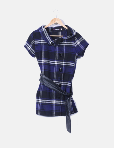 Mosnova Blau und schwarz kariertes Kleid (Rabatt 88 %) - Micolet 6aa9c1927b