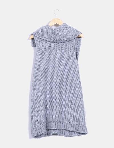 Chaleco de lana gris