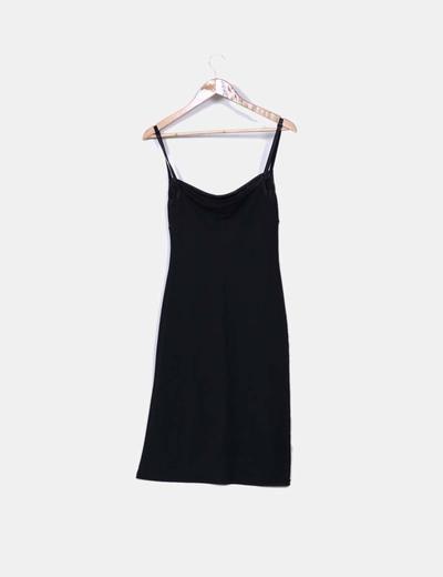 Vestido de tirantes negro efecto red