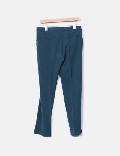 Pantalon recto verde oscuro