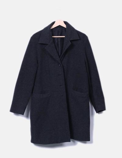 Abrigo gris de paño NoName
