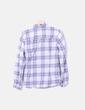 Camisa blanca print cuadros azul Massimo Dutti