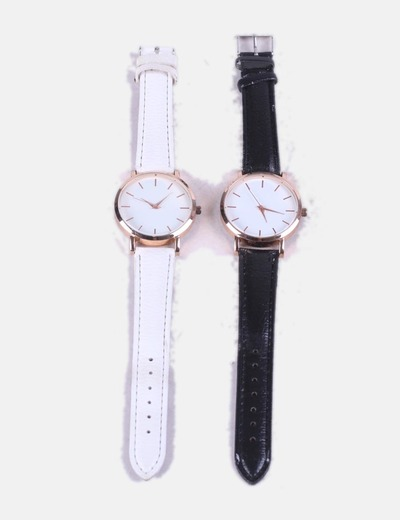 Pack watches black and white NoName