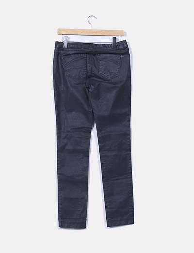 Pantalon gris encerado
