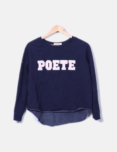 Sudadera azul marino Poete Poète