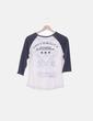 Camiseta combinada blanca y azul C&A