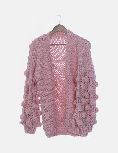 Cardigan tricot rosa