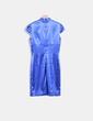Vestido raso azul klein con strass BDBA