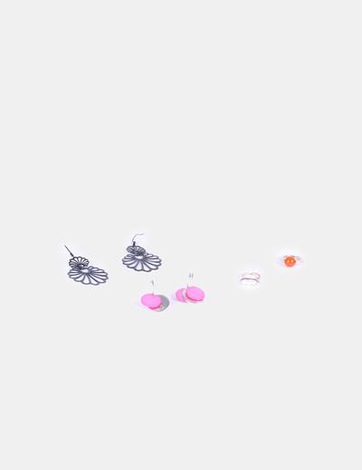 Conjunto de pendientes y anillo NoName