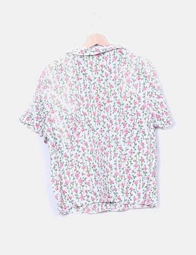 Camisa floral print rosas