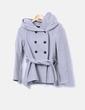 Abrigo corto gris con capucha Zara