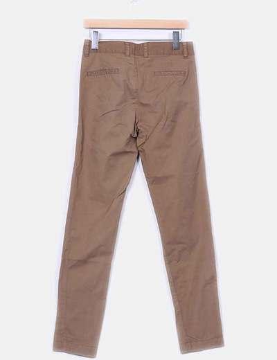 Pantalon baggy ocre