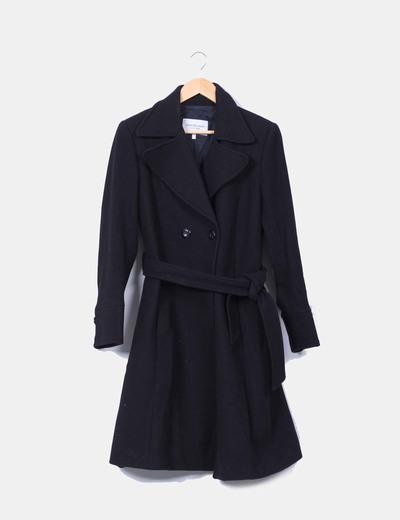 Abrigo negro texturizado Studio Classics