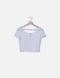 Top blanco rayas semitransparentes H&M