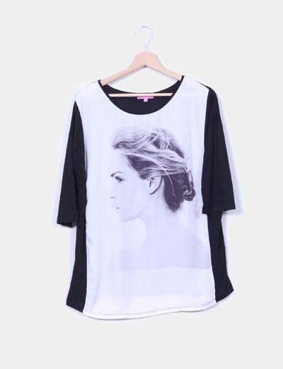 Camiseta negra combinada Di-Bye
