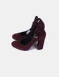 Zapato burdeos de punta redonda atado al tobillo Geox