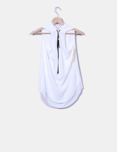 Camiseta cruda cremallera espalda