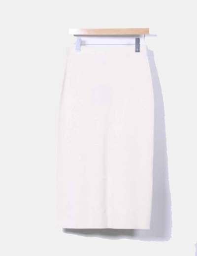 Falda midi de punto beige Olsen