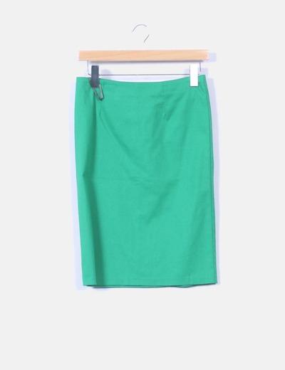 445f50c3994a6 Blanco Falda verde de tubo (descuento 84%) - Micolet