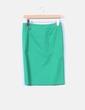 Falda verde de tubo  Blanco
