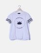Camiseta blanca print texto Crowns