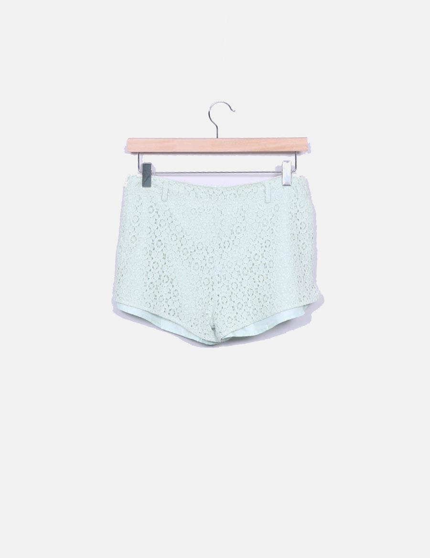 Short verde Lefties mint baratos Pantalones mujer crochet 88qrnxPv ... 42fde64678cb