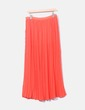 Falda maxi roja plisada Uterqüe