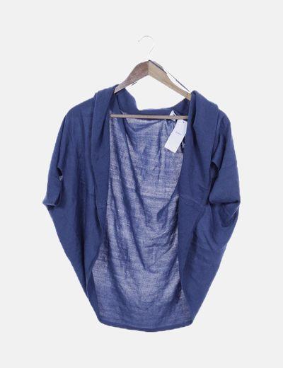 Jersey tricot oversize azul