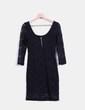 Vestido negro manga francesa Pull&Bear