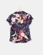 Camisa floral satinada Stradivarius